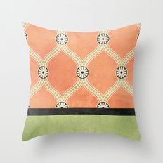 Tangerine Deco Throw Pillow