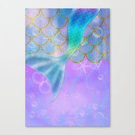 Mermaid Iridescent Shimmer Canvas Print