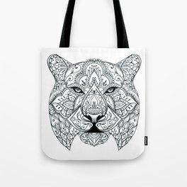 Big Cat Portrait Tote Bag