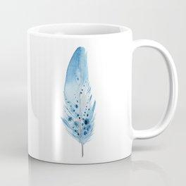 Blue Feather. Coffee Mug