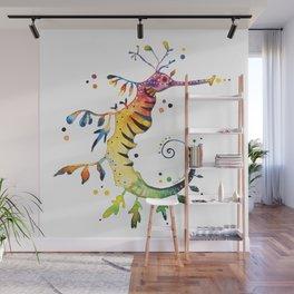 Seahorse watercolor Wall Mural