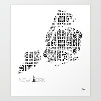 City of Pattern: New York  Art Print