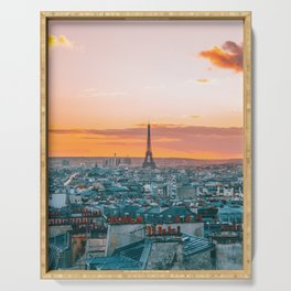 Sunset in Paris (Color) Serving Tray