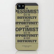 Pessimist / Optimist iPhone (5, 5s) Slim Case
