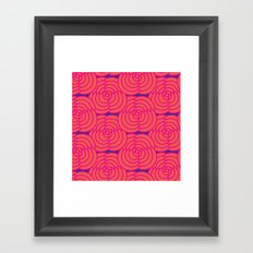 Purple & Orange Framed Art Print