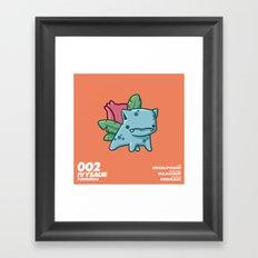 002 Ivysaur Framed Art Print