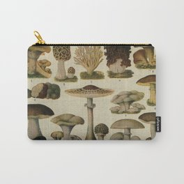 Edible Mushrooms Chart Carry-All Pouch