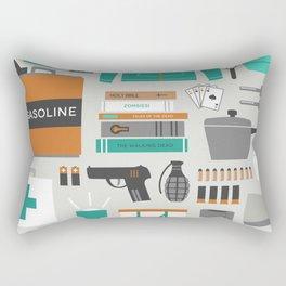 Zombie Survival Kit Rectangular Pillow