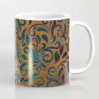 antique Mugs featuring ANTIQUE PATTERN by Klara Acel
