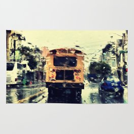 frisco kid // yellow bus Rug