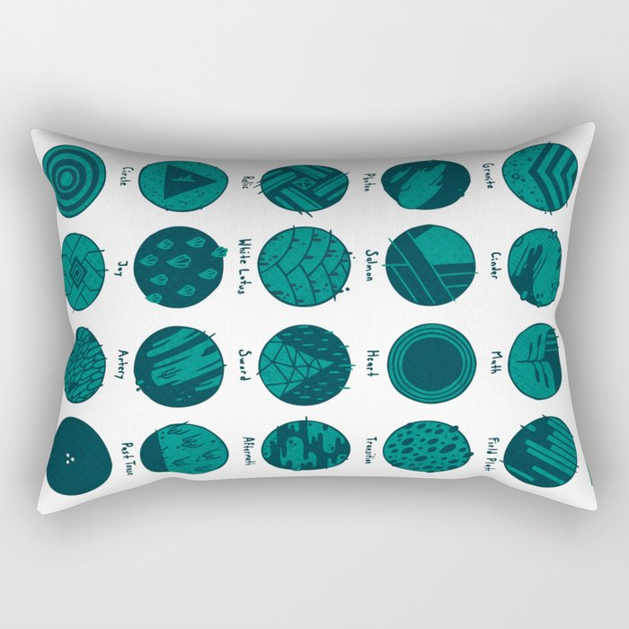 Potentially Mislabeled Microcosmos Samples Rectangular Pillow