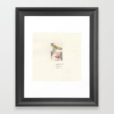 i'm not a banana-II Framed Art Print