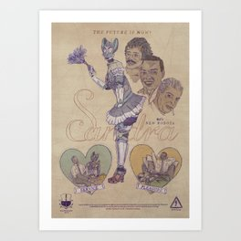 "SANDRA ""Service & Pleasure"" 60s Robota (Front) Art Print"