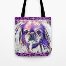 Peak in purple Tote Bag
