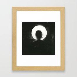 facing the moonlight Framed Art Print