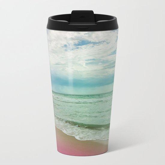 Beach in Colours Metal Travel Mug