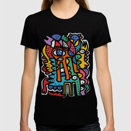 Graffiti Pre Colombian Street Art Cool Creatures T-shirt