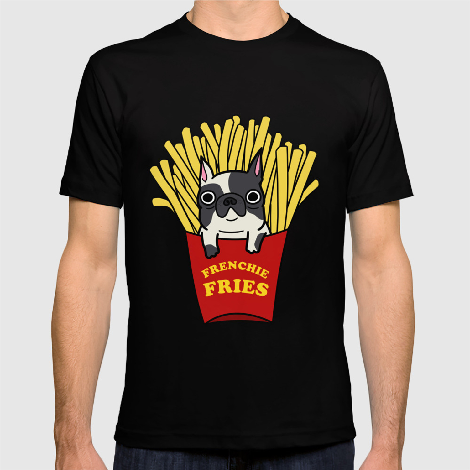 f743544c Frenchie Fries T-shirt by omai | Society6