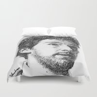 theater Duvet Covers featuring Benedict Theater Sketch by RebekahStanhope