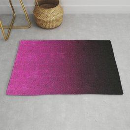 Pink & Black Glitter Gradient Rug