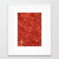 meat Framed Art Prints featuring mEAT by Jevan Strudwick