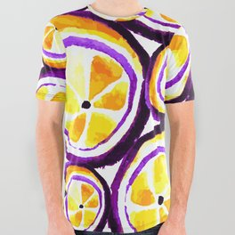 Sweet Plum Lemon All Over Graphic Tee