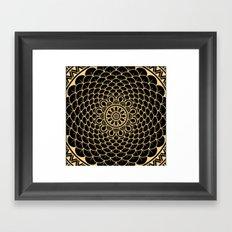 Golden Mandala Framed Art Print