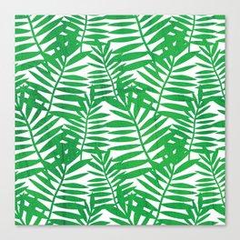 Tropical Leaf Print Canvas Print