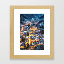 Christmas Village Framed Art Print