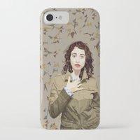 regina mills iPhone & iPod Cases featuring Regina Spektor by Iany Trisuzzi