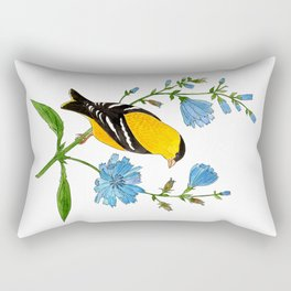 Goldfinch and Chicory Rectangular Pillow