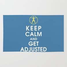 Keep Calm and Get Adjusted (chiropractor) Rug