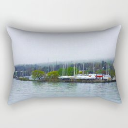 Madeline Island from the Bayfield Ferry Rectangular Pillow