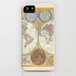 A General Map of the World - Laurie 1794 iPhone Case