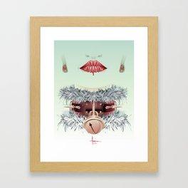 HOLIDAY SMILE Framed Art Print