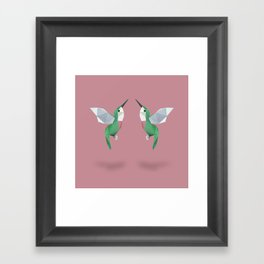 Humming Bird. Framed Art Print