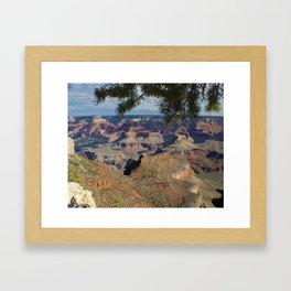 Battleship Rock, Grand Canyon NP, AZ -- Just after sunrise Framed Art Print