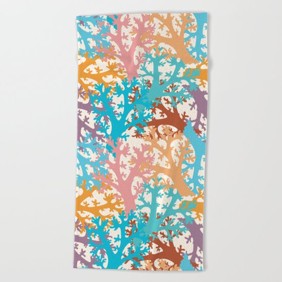 Pastel Marine Pattern 05 Beach Towel