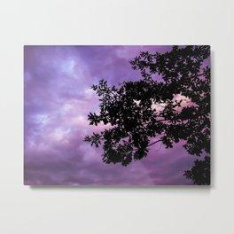 Tree in Purple Metal Print