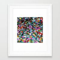 confetti Framed Art Prints featuring Confetti by Laura Ruth