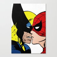 heroes Canvas Prints featuring Heroes by Alex Cherry