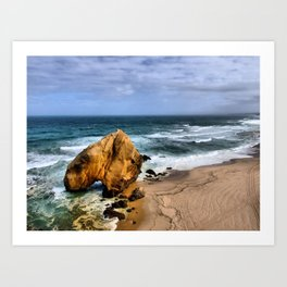 Santa Cruz Beach in Portugal Art Print