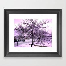 Ice Storm Tree - Purple Effect Framed Art Print