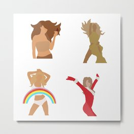 Mariah album covers Butterfly Emancipation Christmas Rainbow Metal Print
