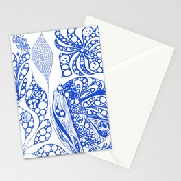 My blue doodle Stationery Cards