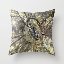 ROUND FOREST Throw Pillow