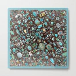 Vintage Navajo Turquoise stones Metal Print