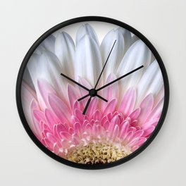 White And Pink Flower Bloom Wall Clock