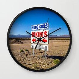 Bikini Sign Wall Clock