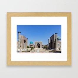 Uzbekistan, Samarkand: Registan Framed Art Print